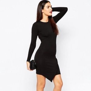 ASOS Bodycon Asymmetrical Hem Fitted LBD Dress